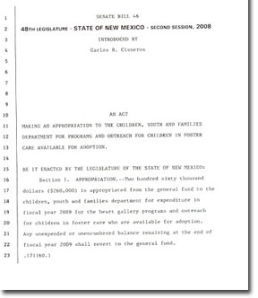 How To Obtain State Legislative Funding For A Heart Gallery